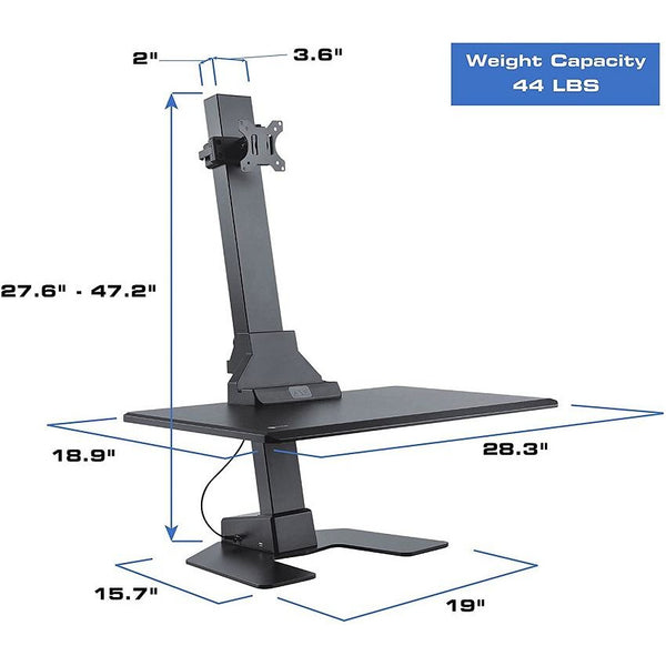 Star Ergonomics Electric Sit-Stand Workstation SE04E1WB -Motor Driven Height Adjustment, Flexible Monitor