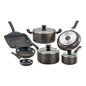 T-fal Initiatives (B167SA74) 10PC Cookware Set; Blemished Open Box NEW