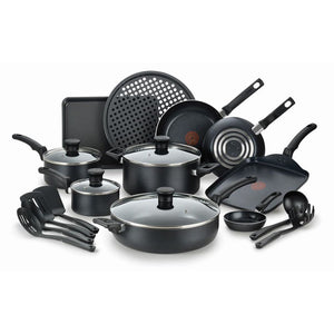 "T-fal B232SK54 Kitchen Solutions 20-Piece Non-Stick Cookware Set ""Blemished Packaging- Manufacturer Refurbished, Good as NEW (Comes with One Year Manufacturer Warranty, Direct to the Customer)"""