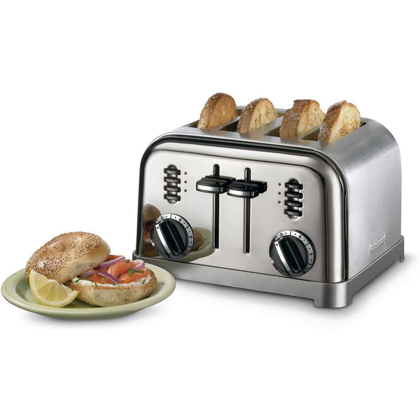 Cuisinart 4-Slice Metal Classic Toaster CPT-180IHR Brushed Stainless (Refurbished)