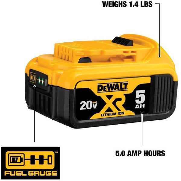 DEWALT (DCB205) 20V MAX XR 5.0Ah Lithium Ion Battery