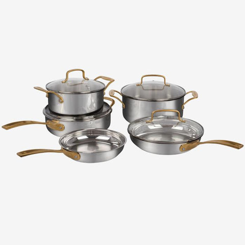 Cuisinart (71-9BGDC) 9 Piece, MetalExpressions Stainless Steel Cookware Set