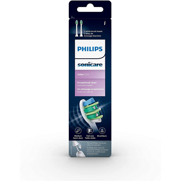 Philips Sonicare Specialty Intercare Replacement Standard Sonic Toothbrush Heads, White, HX9002/92