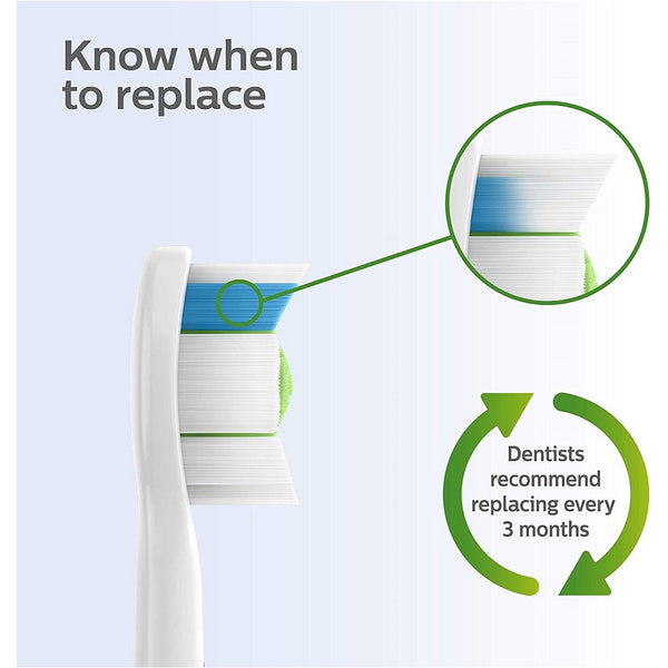 Philips Sonicare W Diamond Clean Standard Sonic RFID Replacement Brush Heads; White HX6062/92