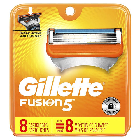 Gillette Fusion5 Men's Razor Blades - Cartridge Refills 8 Count