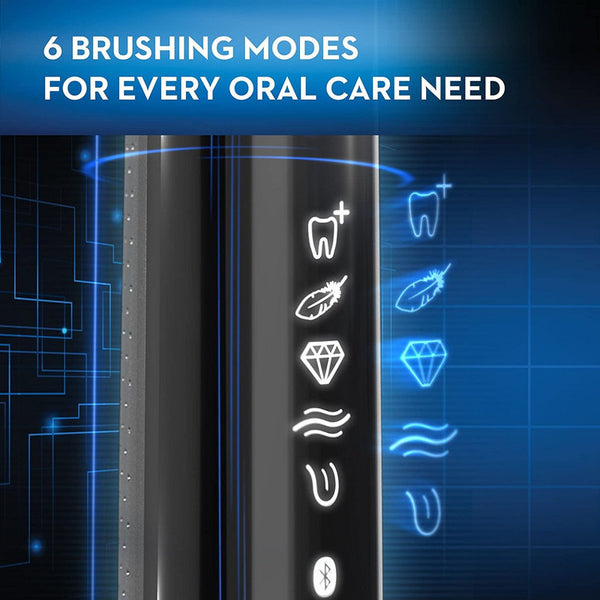 Oral-B Genius Pro 8000 Electronic Power Rechargeable Battery Electric Toothbrush with Bluetooth Connectivity, Black