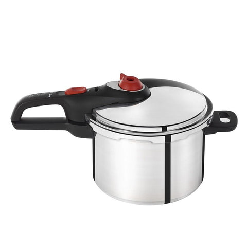 T-FAL P2614632 6-QT Pressure Cooker  (Secure Aluminum)  BLEMISHED PACKAGING - OPEN BOX