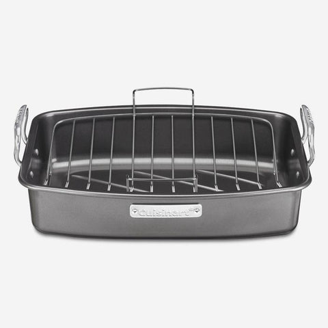 Cuisinart 17 x 13 in. (43 x 33 cm) Roasting Pan with Removable Rack (ASR-1713VC)