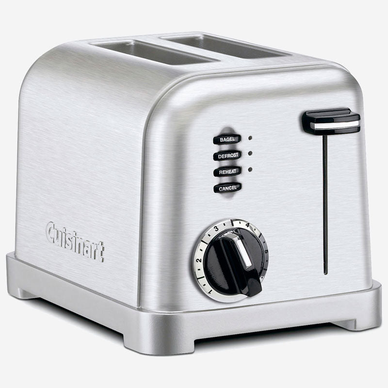 CUISINART CPT-160IHR Metal Classic 2-Slice Toaster, Brushed Stainless (Refurbished)