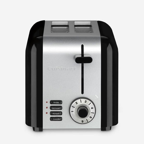 Cuisinart CPT-320BKEC 2-Slice Toaster, Black/Silver