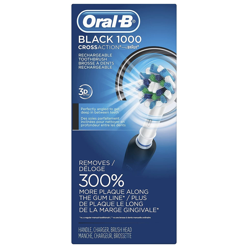 Oral-B Pro Crossaction 1000 Power Rechargeable Electric Toothbrush, Black