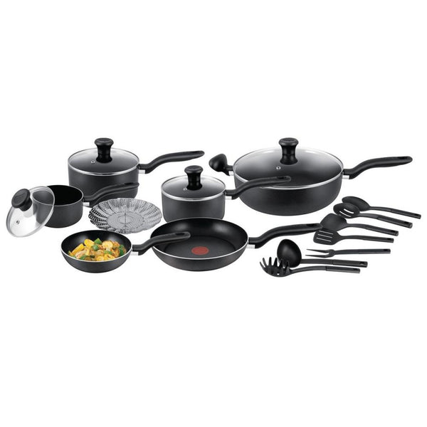 "T-FAL (D193SC55) Simply Cook 18-Piece Non-Stick Cookware Set ""Blemished Packaging Open Box New - 90 Days Manufacturer Warranty"""