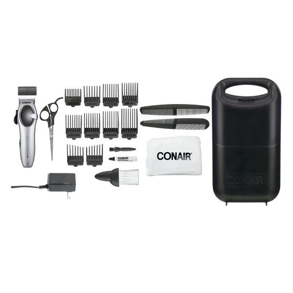 Conair Cord/Cordless Rechargeable 27-Piece Hair Kit; Ultra Cut Complete Family Home Haircutting System