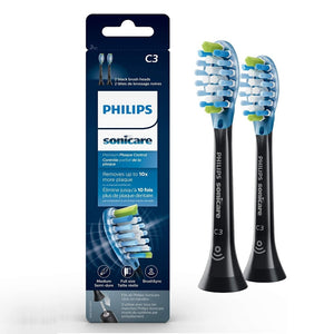 Philips Sonicare Premium Plaque Control RFID Replacement Brush Heads, Black HX9042/95