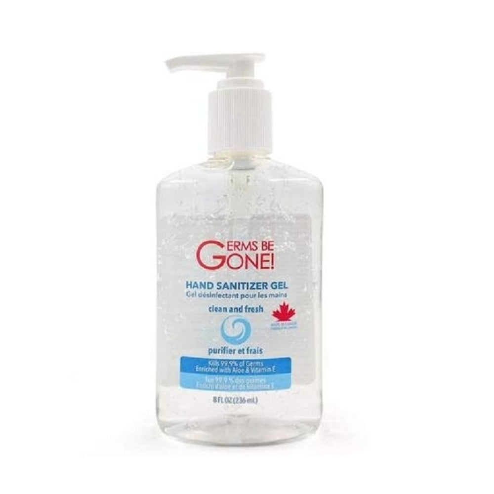 Germs Be Gone! Hand Sanitizer Gel with Aloe & Vitamin E (Kills 99.9% of Germs)