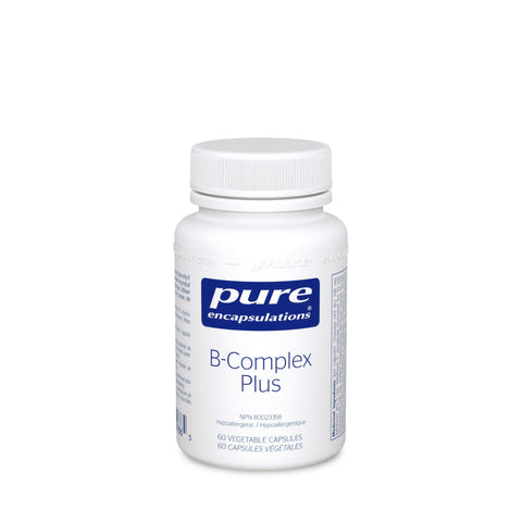 Pure Encapsulations B-Complex Plus Balanced B Vitamin Formula 60 Vegetable Capsules