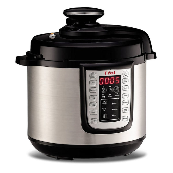 T-fal CY505E51 EPC Fast Multicooker YC9 MET 12-in-1 Programmable Electric Pressure Cooker with 25 Programs + Free 20 CMS T-fal Fry Pan (Refurbished Open Box -1year Manufacturer Warranty)