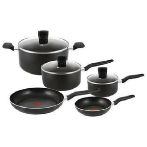 T-fal POT SET 8P NEW START UP BLK, Blemished Packaging 1 YR T-FAL Warranty