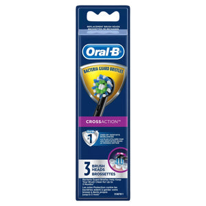 Oral-B CrossAction Black Electric Toothbrush Replacement Brush Refill Heads, 3 CT, 2 Pack