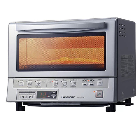 "Panasonic NB-G110P Flash Express Toaster Oven with Double Infrared Heating - Silver ""Refurbished 90 day warranty"""