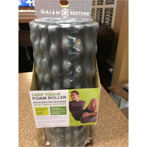 "Gaiam Restore Deep Tissue Foam Roller Grey 13"" Long"