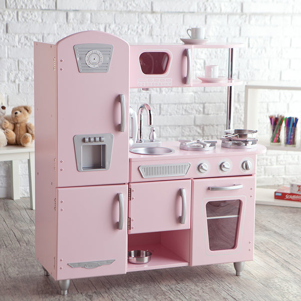 retro pink kitchen