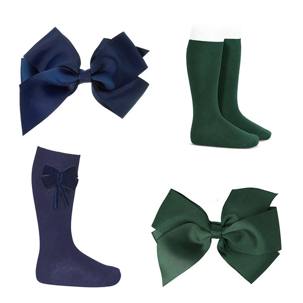 bows and socks to school