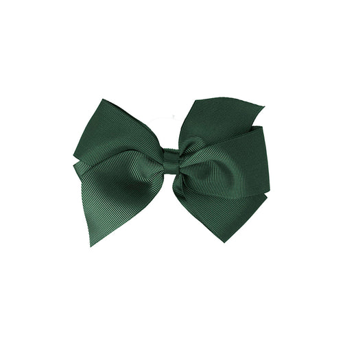 Big Bow Clip BOTTLE GREEN