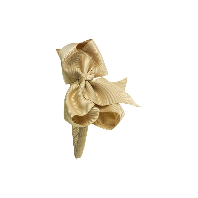 Extra Large Bow Hairband BEIGE