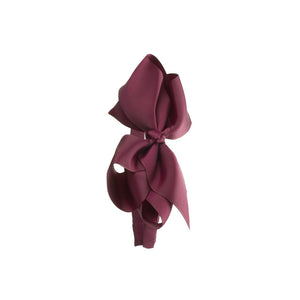 Extra Large Bow Hairband BURGUNDY