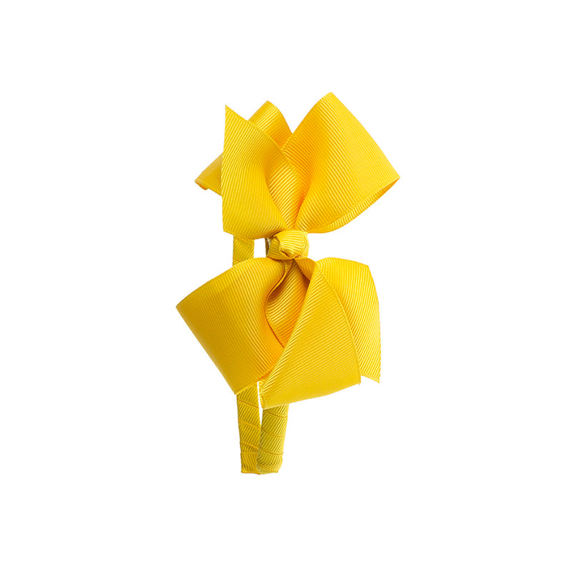 Big Bow Hairband MUSTARD
