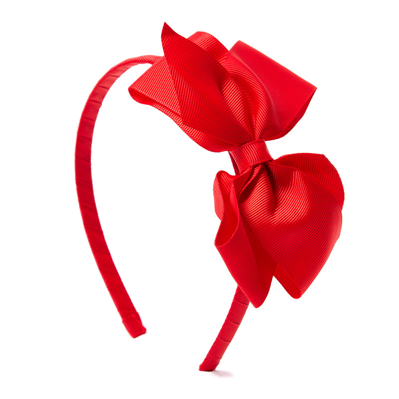 Big Bow Hairband Red