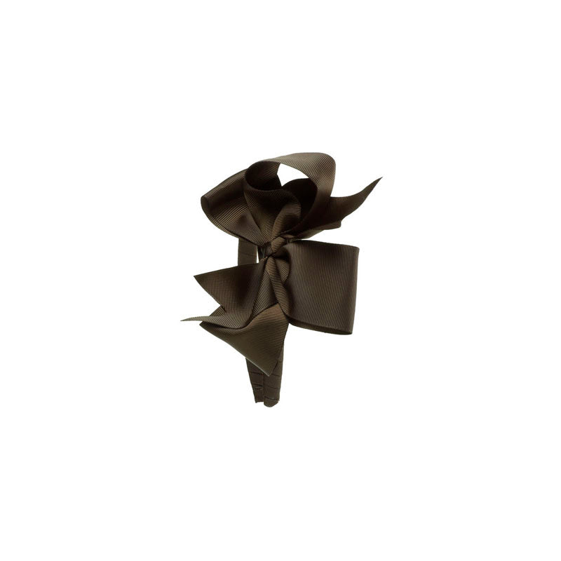 Extra Large Bow Hairband Brown