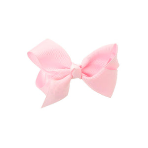 Medium Bow Clip Baby Pink