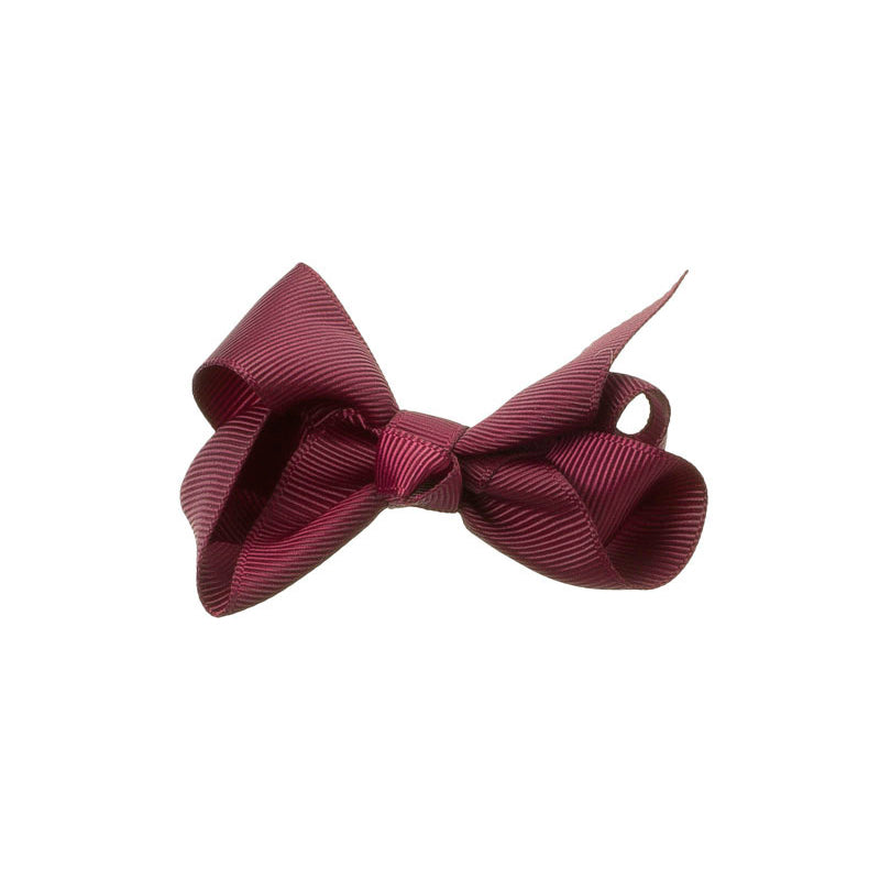 Medium Bow Clip BURGUNDY