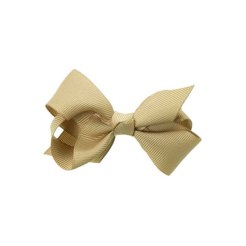 Medium Bow Clip Beige