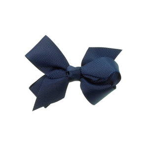 Medium Bow Clip Navy Blue