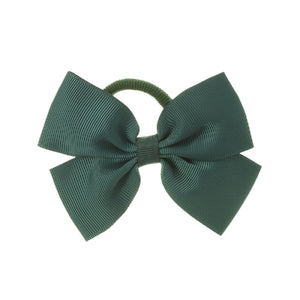 Medium Bow Hair Tie Bottle Green