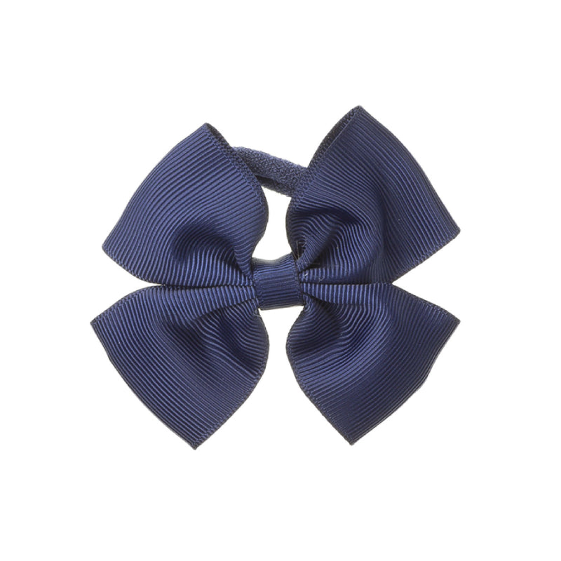 Medium Bow Hair Tie Navy Blue