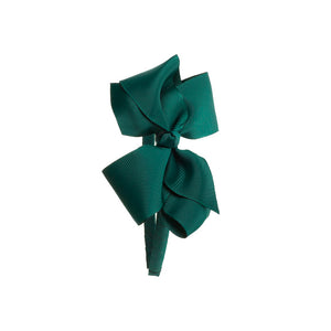 Big Bow Hairband Bottle Green