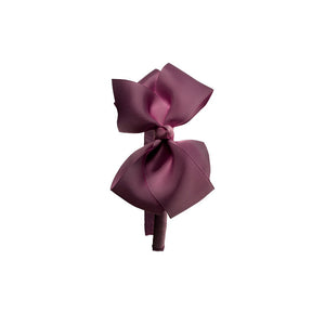 Big Bow Hairband Burgundy