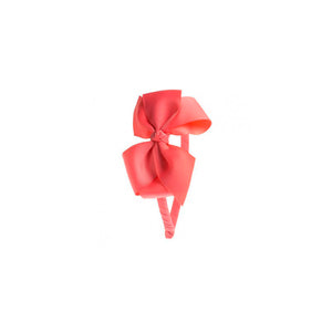 Big Bow Hairband Coral