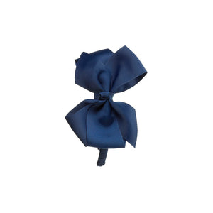 Big Bow Hairband Navy Blue
