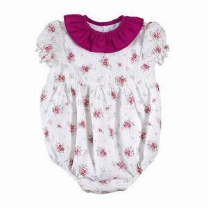Rose Baby Girl Romper