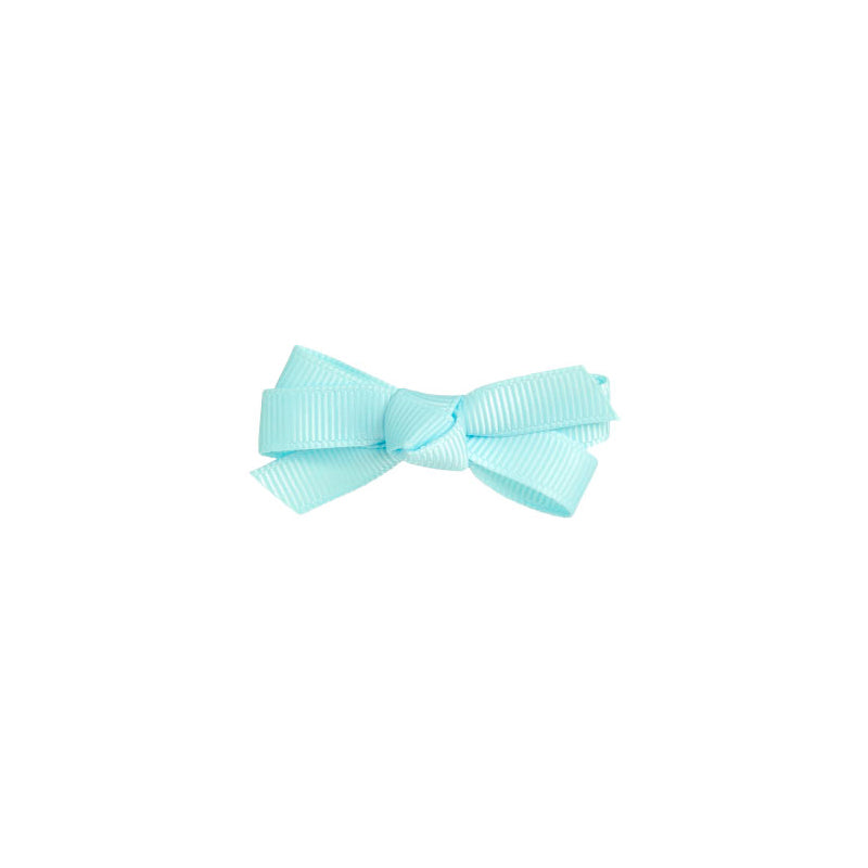 Small Bow Clip Baby Blue
