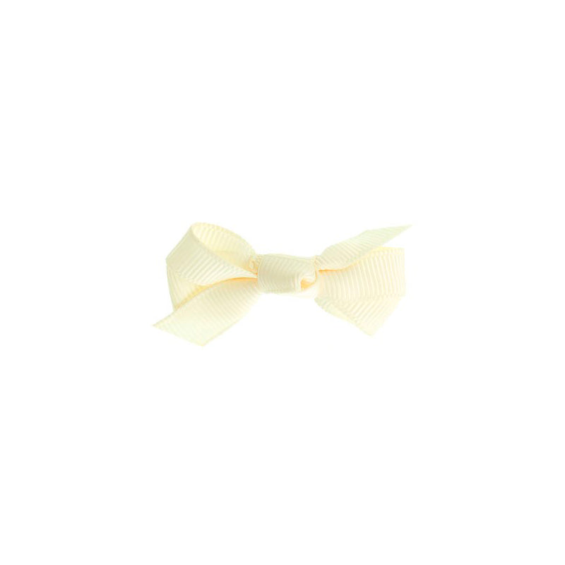 Small Bow Clip IVORY