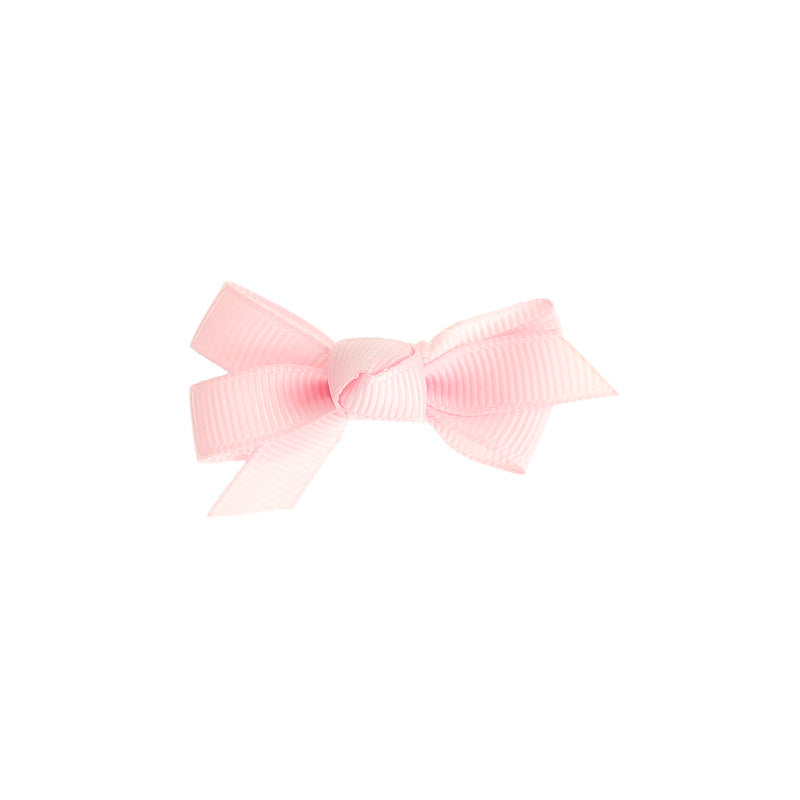 Small Bow Clip Baby Pink