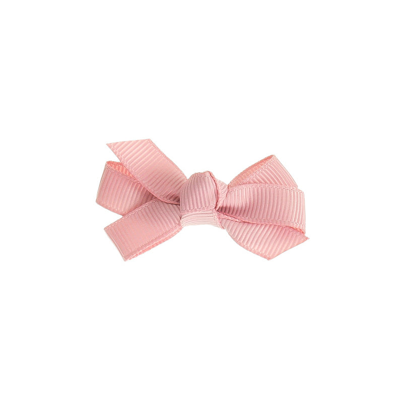 Small Bow Clip DUSTY PINK