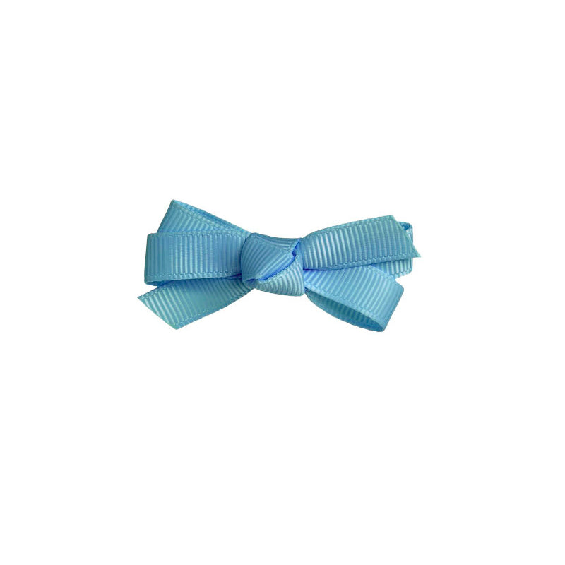Small Bow Clip FRENCH BLUE