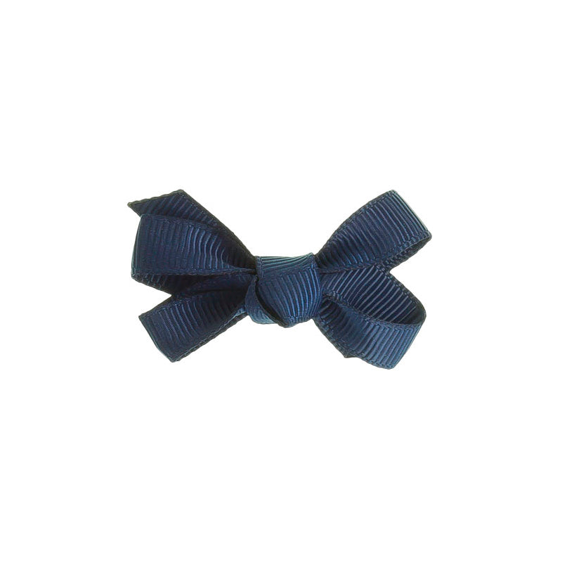 Small Bow Clip NAVY BLUE